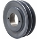 Packard Two Groove Bushing Pulleys For 4L Or A Belts 3.05&quot; O.D.
